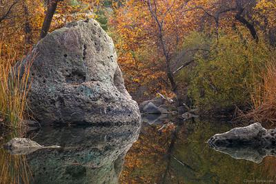 Autumn Reflection Santa Monica Mountains