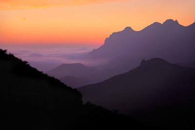 Santa Monica Mountains Sunset Pacific View