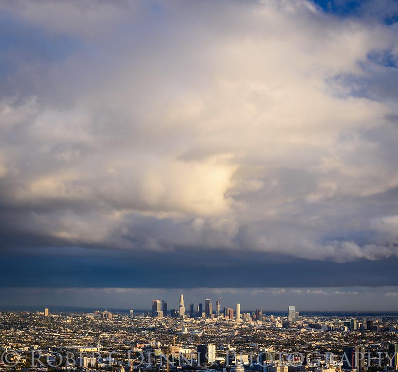 Los Angeles sunset storm