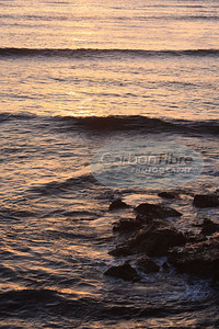 Waves and Rocks at Sunset Cliffs
