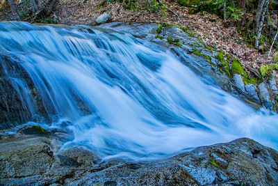 A cascade along Brandy Creek as it flows from its headwaters near Shasta Bally in the Whiskeytown National Recreation Area ending up in Whiskeytown Lake near Redding, CA