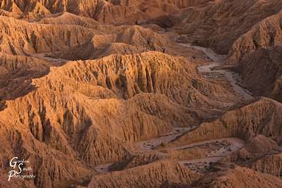 Sunset at Fonts Point Badlands