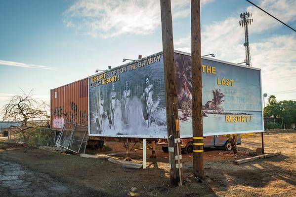Large Ad Upon Entering Bombay Beach at the Salton Sea