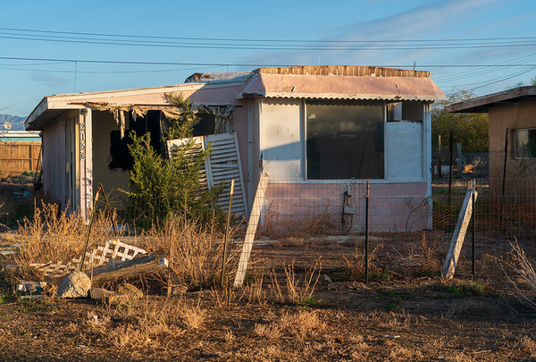 An Abandoned Trailer at Bombay Beach in the Salton Sea