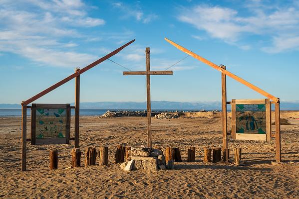 Outdoor Church at Bombay Beach in the Salton Sea