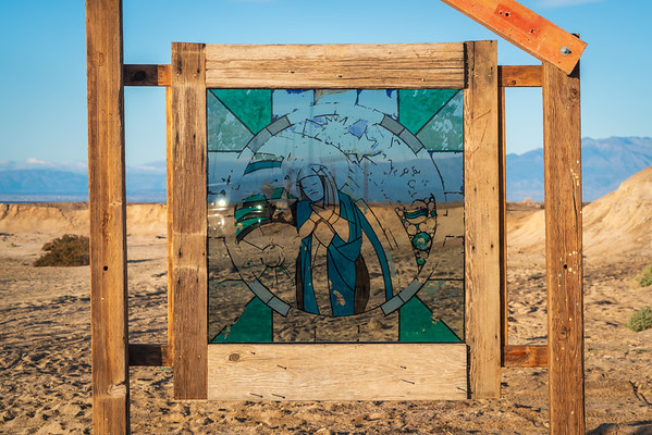 Stained Glass Artwork at Bombay Beach in the Salton Sea