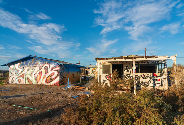 A house at Bombay Beach in the Salton Sea