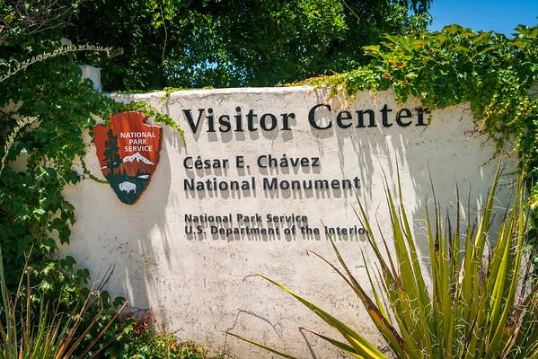 Cisitor Center Sign at César E. Chávez National Monument