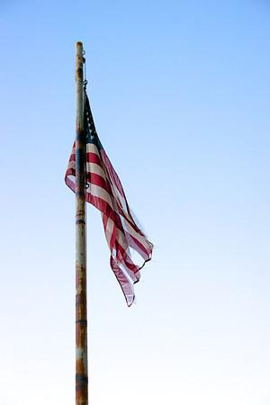 Lifeless American Flag