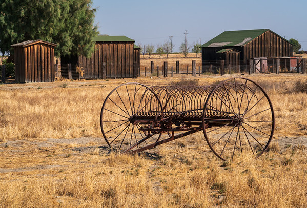 Old Farming Equipment at Colonel Allensworth State Historic Park
