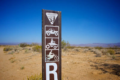 BLM Bureau of Land Management Road Marker