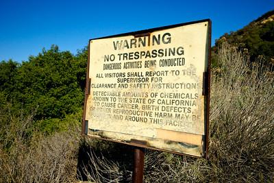 Trespassing Warning Sign for Danger