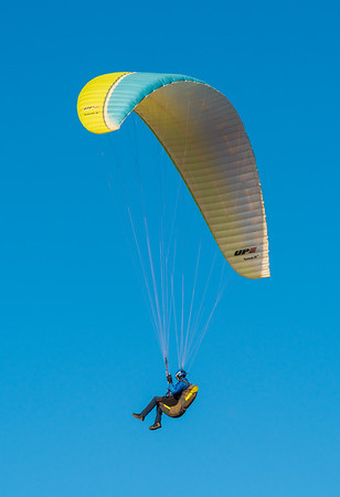 Paraglider at Fort Ord Sand Dunes in Monterey California