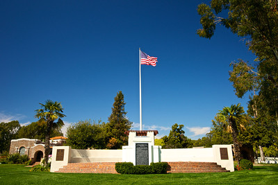The American Flag over Memorial Cemetery