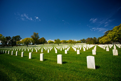 Rows of Grave Markers