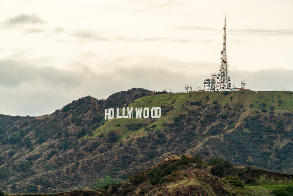The Famous Hollywood Sign in Los Angeles, California