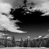 Snowy Mt. Dana (left) from Tuolumne Meadows