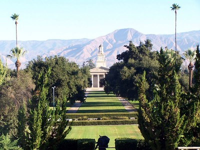 University of Redlands, Redlands, CA. Chapel and the Quad, from the steps of the Admin Building.