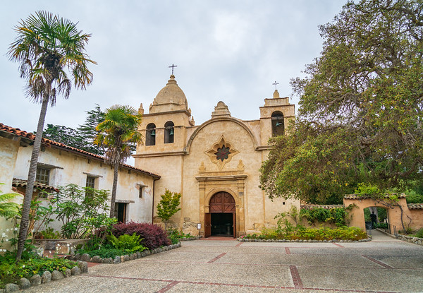 Outside of the Historic Mission, Carmel Mission