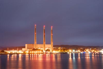 The Dynamo Power Plant on the shore of Morro Bay's harbor.