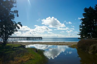 The pier at W.R. Hearst Memorial State Beach