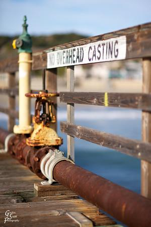 No Overhead Casting from Avila Beach Pier