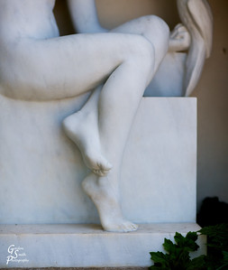 Marble Toes a splendid sculpture at Hearst Castle.  I liked the partial view of this marble muse.  In this case the part is more than the whole.