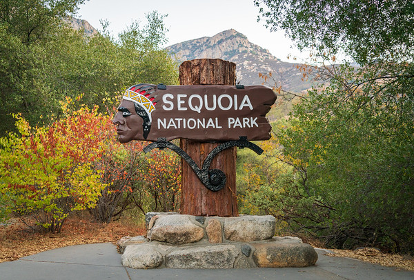 Welcome Sign to Sequoia National Park