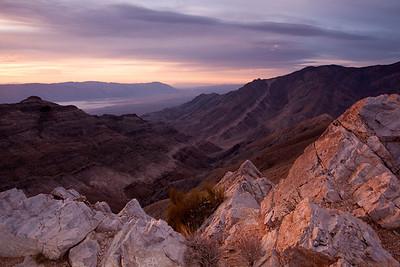 Pastel view of rocks