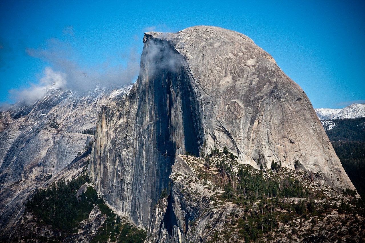 Half Dome (8836 ft) with Clouds Rest in background left, Yosemite NP