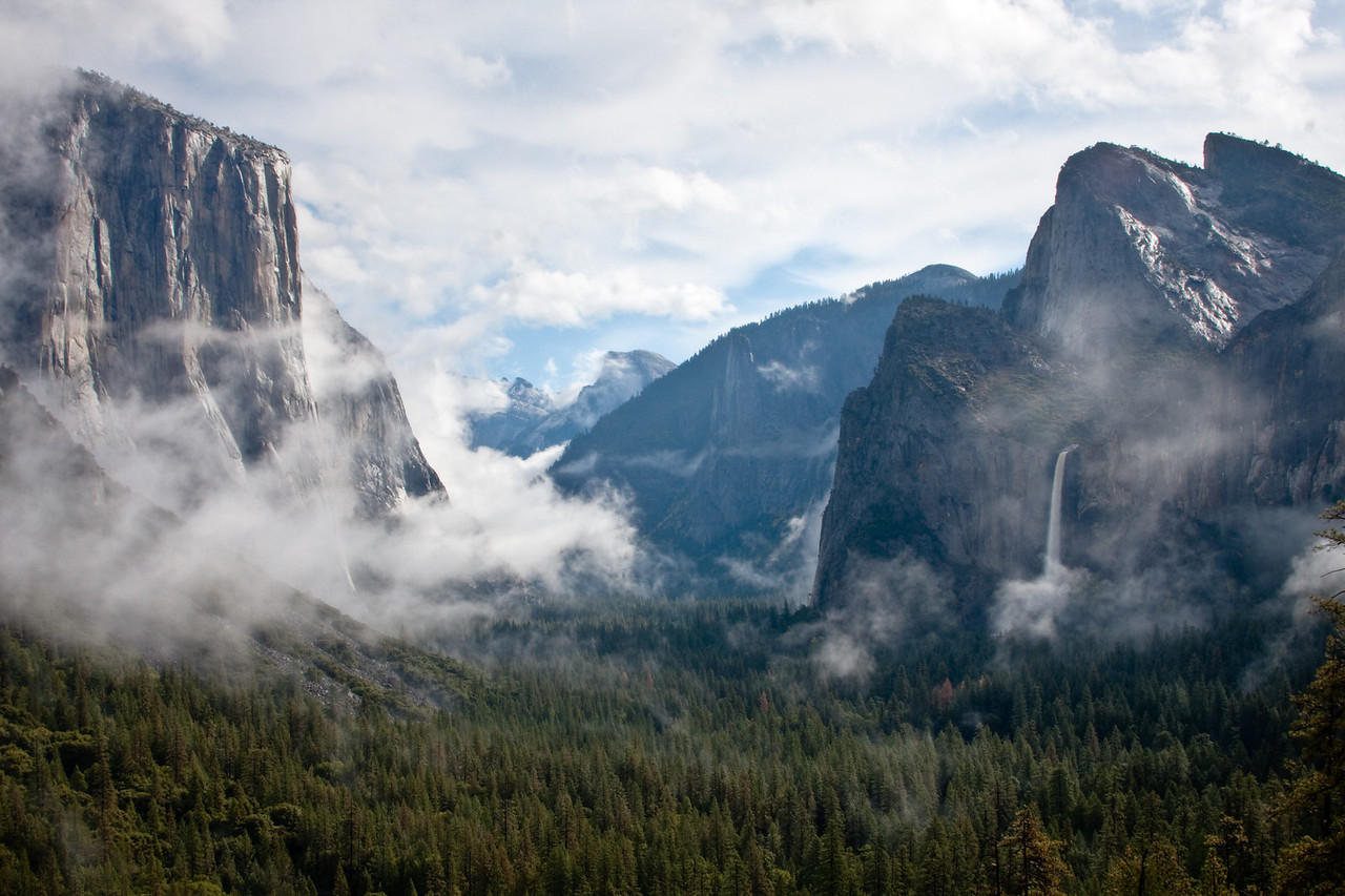 Yosemite Valley, Clearing Storm Clouds.