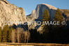 Half Dome from the Yosemite Valley during later fall 2006.