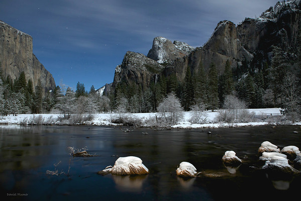 Moonlight Over Yosemite Valley