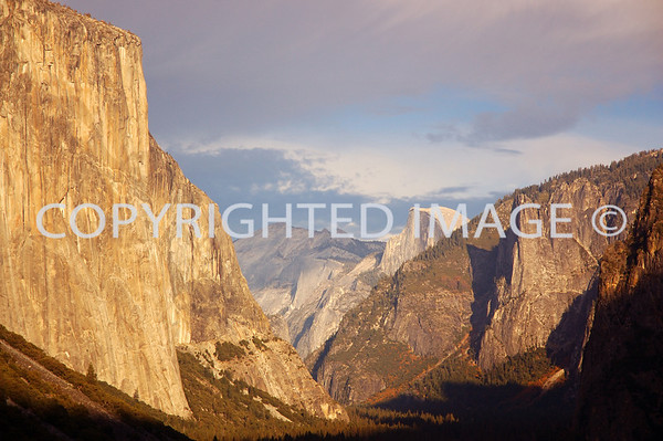 Taken from the very popular Tunnel View; Half Dome on the left and El Capitan in the bacground. Cliche, but I like it.