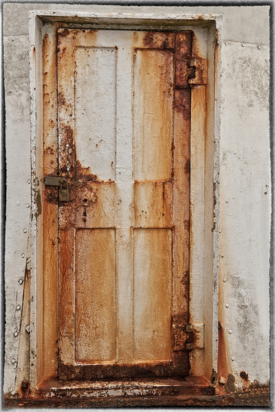 Rusted Door - Point Reyes Light House, Marin Co., CA