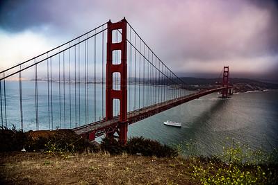 Surreal Golden Gate Bridge
