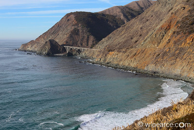 Pacific Coast Highway, California 1.  Bridge over Big Creek south of Big Sur