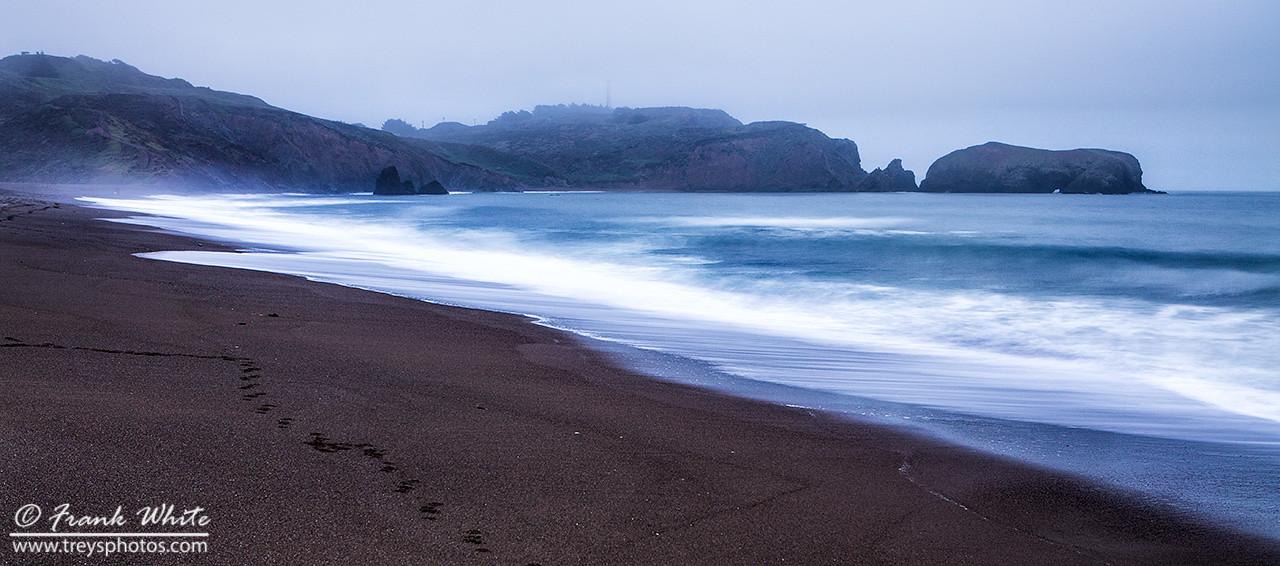 Baker Beach, in Marin, north of San Francisco, CA