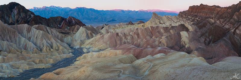Death Valley, <br /> Zabriskie Point Pano