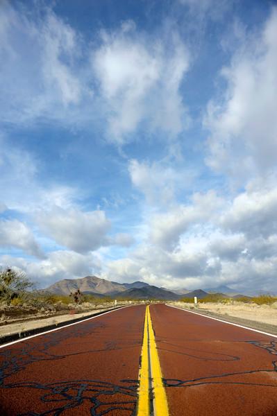Nipton Road from Searchlight, Nevada.