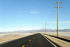 The road heading into Amboy California