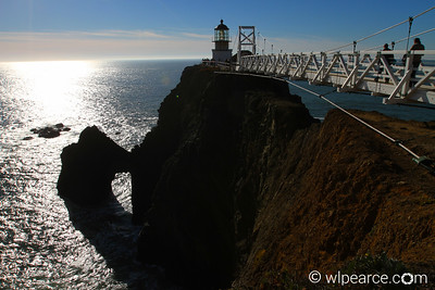 Point Bonito Lighthouse and bridge.