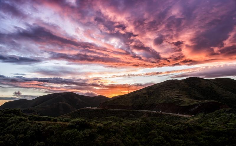 Sunset Fireworks Over Marin