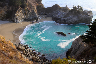 McWay Falls in the Julia Pfieffer Burns State Park, Big Sur coastline.  One of only two ocean emptying falls on the west coast, and only a few in the world.