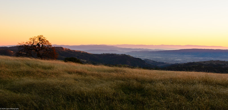 Sunset at Henry Coe State Park