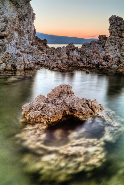 Submerged Tufa<br /> <br /> A tufa emerges from the shallow waters of Mono Lake<br /> Mono Lake State Park, California, USA