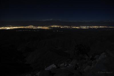 Palm Springs from Joshua Tree