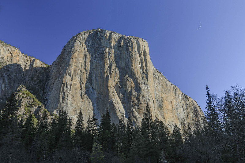Yosemite Morning with Moon of the Second Day
