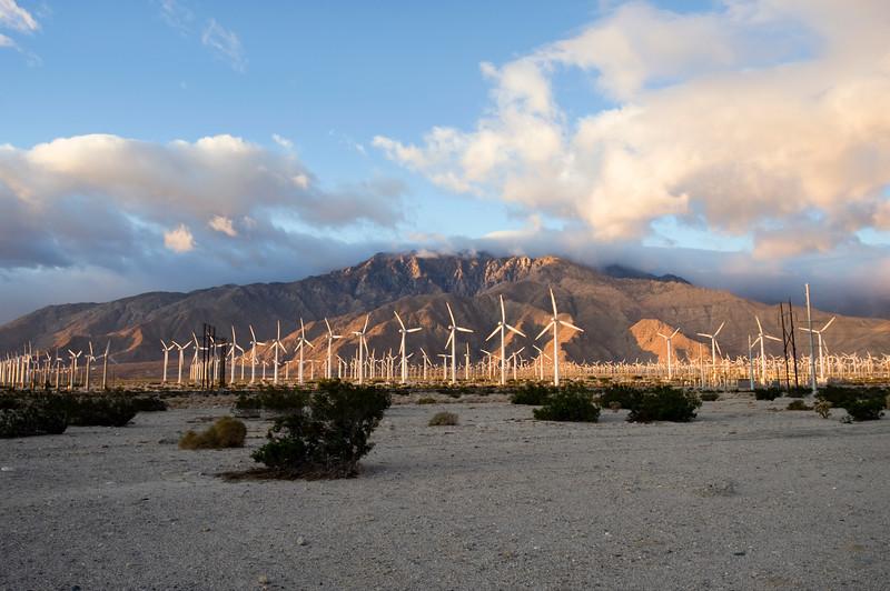 Sunrise in the Coachella Valley.