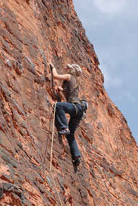 Red Rocks, NV: Cécile in Neon Sunset, 5.8